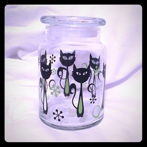 Black Cat Sealable Canister or Candy Dish